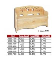Banco arca modelo jugo em pinho maciço