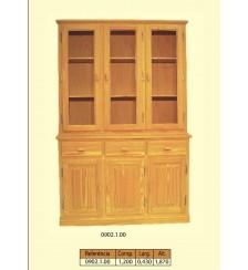 Loiceiro de120 cm com 3 portas altas para vidro