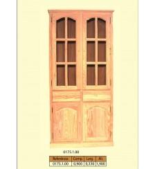 Vitrina alta  com 2 portas para vidros e 2 gavetas